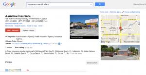 A-Arrow Insurance Google Places Page