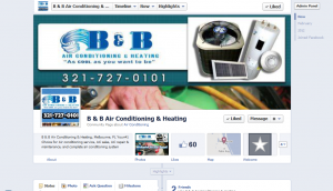 B&B Air Conditioning Facebook Page