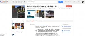 B&B Air Conditioning Google Plus Profile