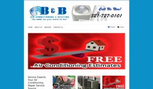 B&B Air Conditioning Website