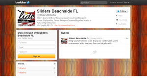 Sliders Beachside Sports Grill & Pizzeria Twitter Profile