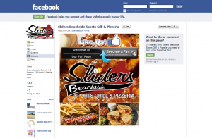 Sliders Beachside Sports Grill & Pizzeria Facebook Page